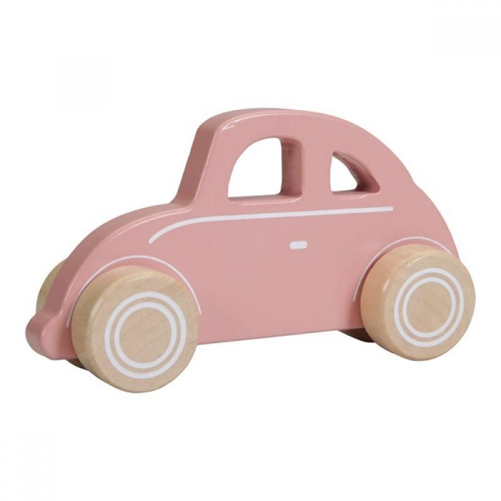 Дървена Играчка Pink Car