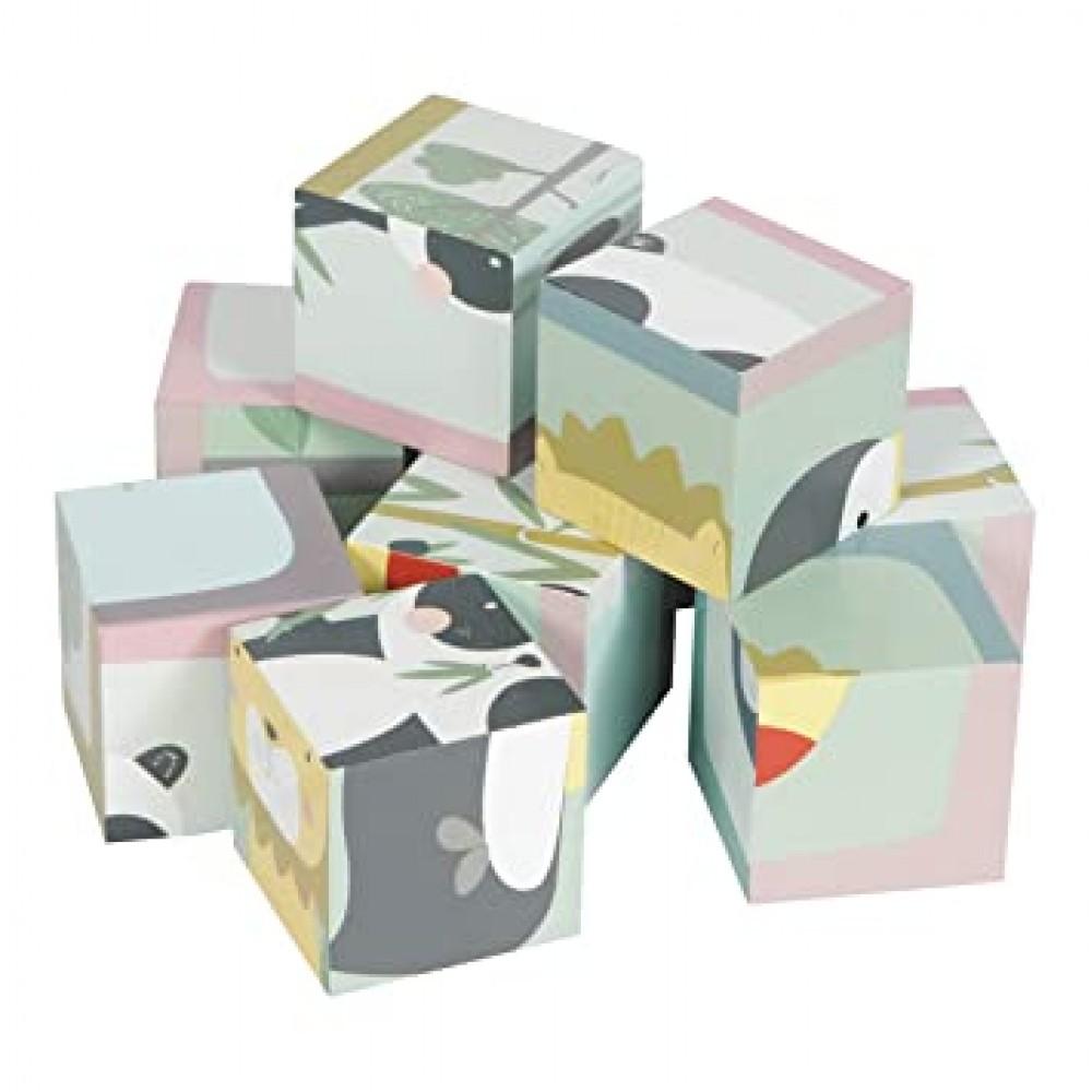 Дървен Пъзел от Кубчета ZOO