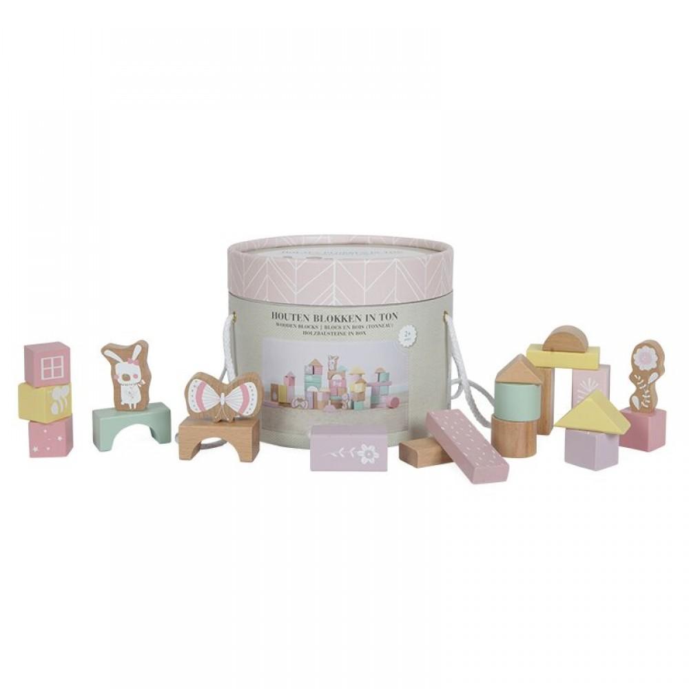 Дървени Кубчета в Кутия Pink