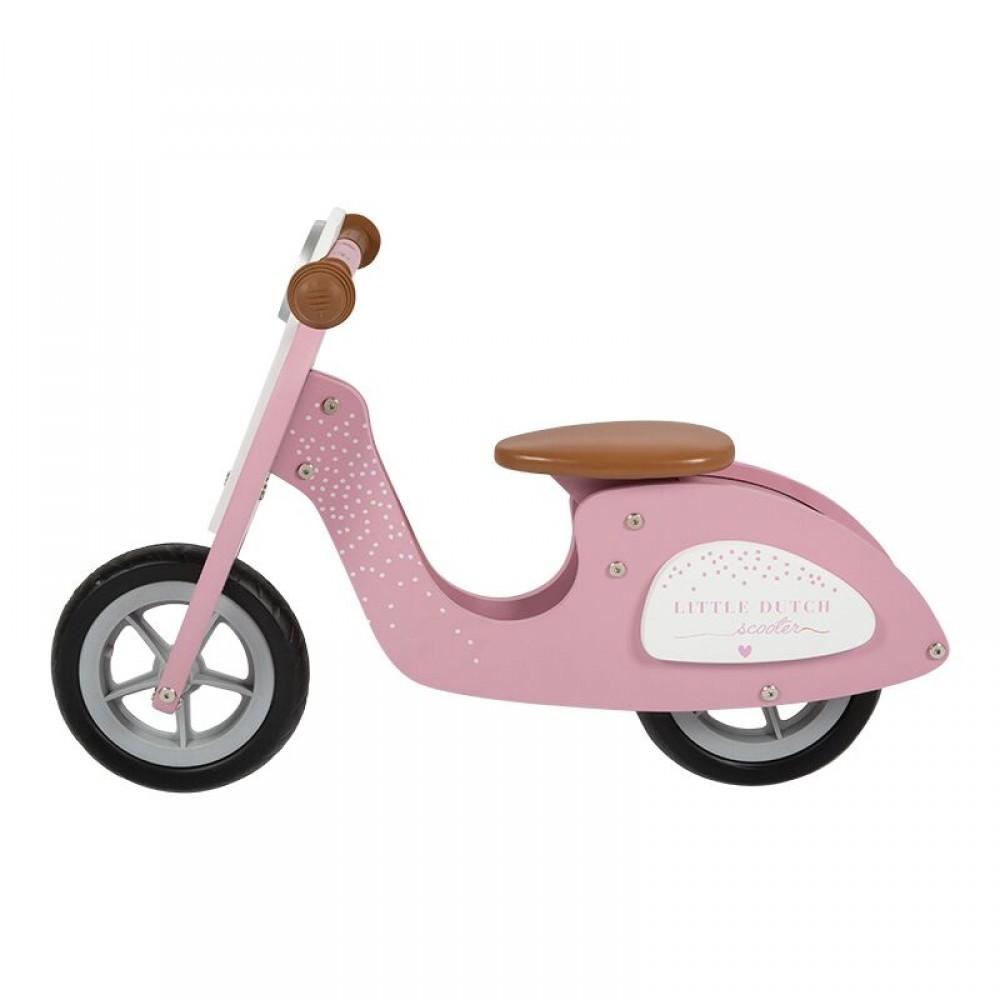 Дървено Балансно Колело Pink Vespa