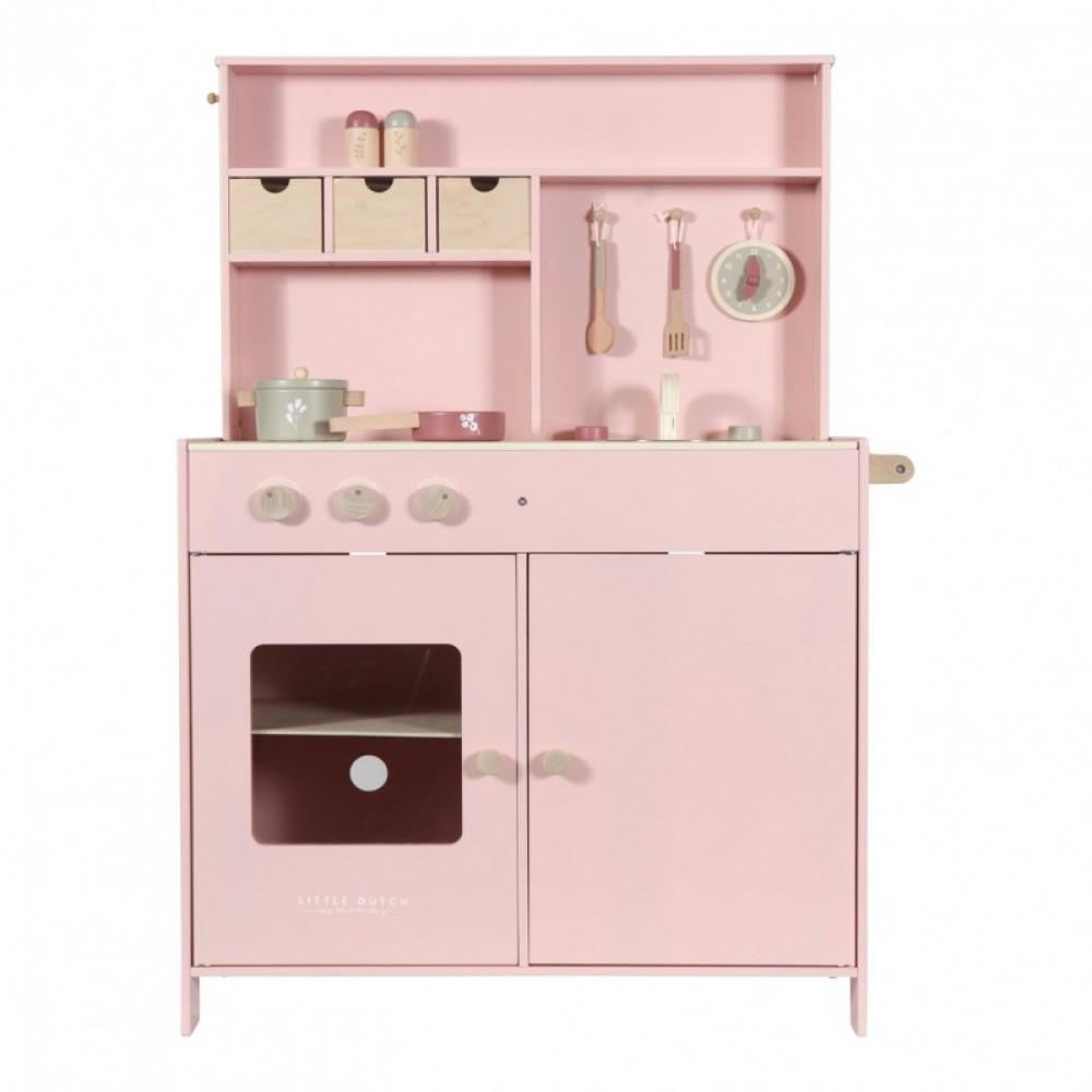 Дървена Детска Кухня Pink