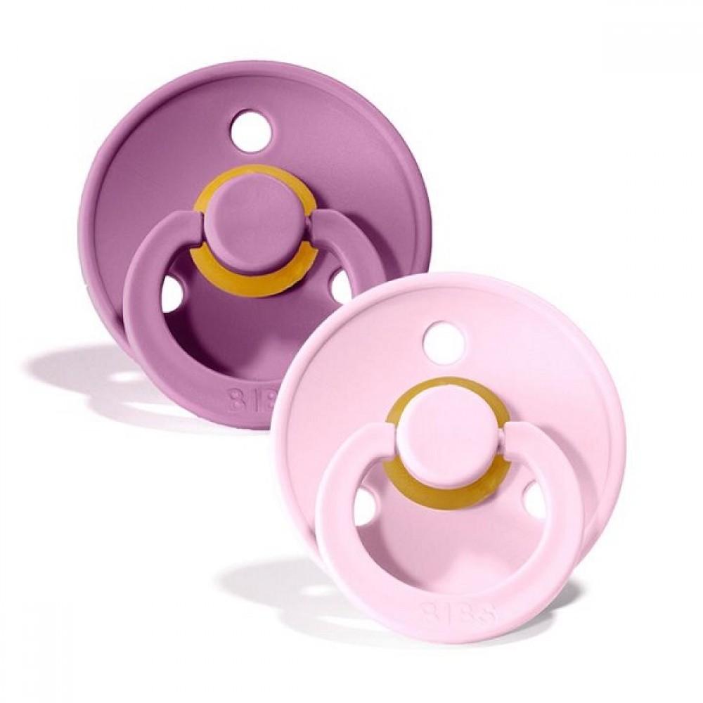2 бр. Биберони BIBS, Lavender/Baby Pink, 6-18 месеца