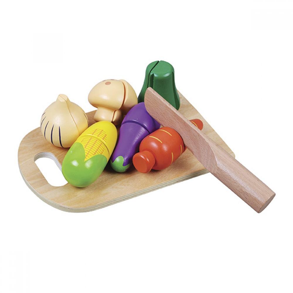 Комплект Дървени Зелинчуци с Дъска и Нож