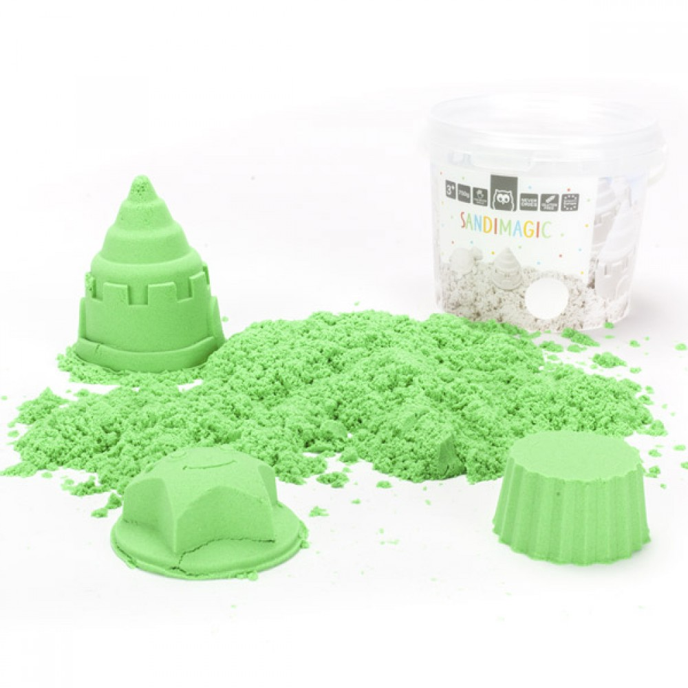 Зелен Пясък за Моделиране SANDIMAGIC