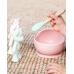Детски Сет за Хранене с Вакуумна Купа и Бамбукова Лъжичка Rose