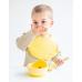 Детски Сет за Хранене с Вакуумна Купа и Бамбукова Лъжичка Blue