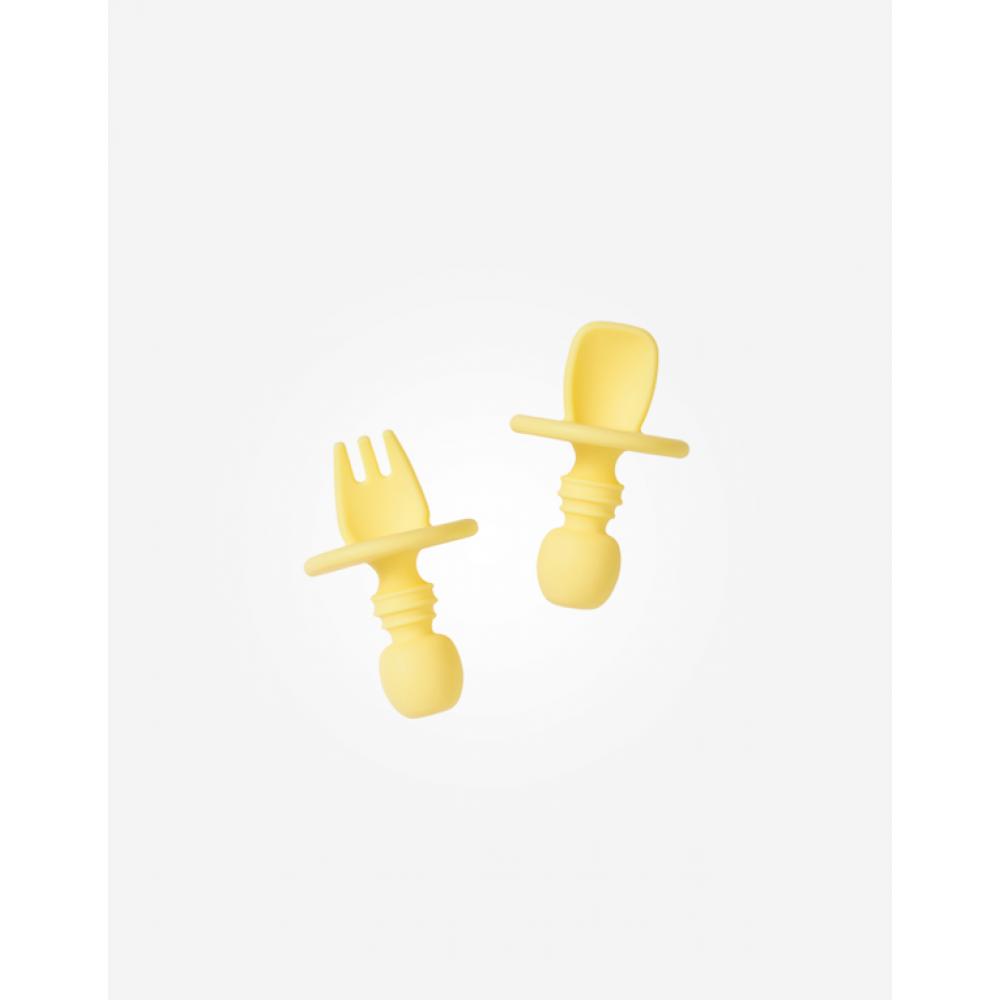 Ергономични Прибори за Хранене Против Задавяне Yellow