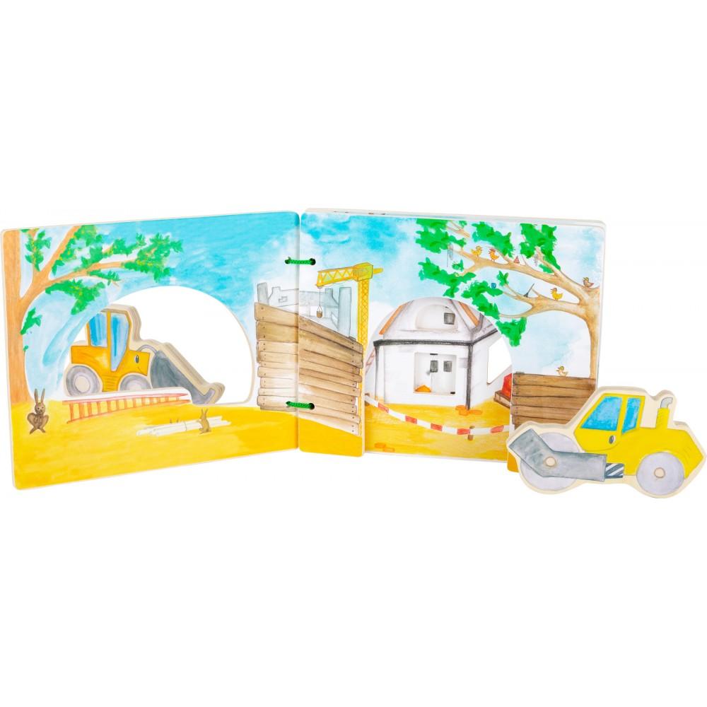Дървена Интерактивна Книжка Строителство
