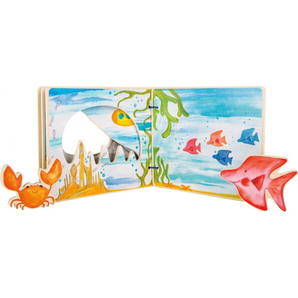 Дървена Интерактивна Книжка Подводен Свят