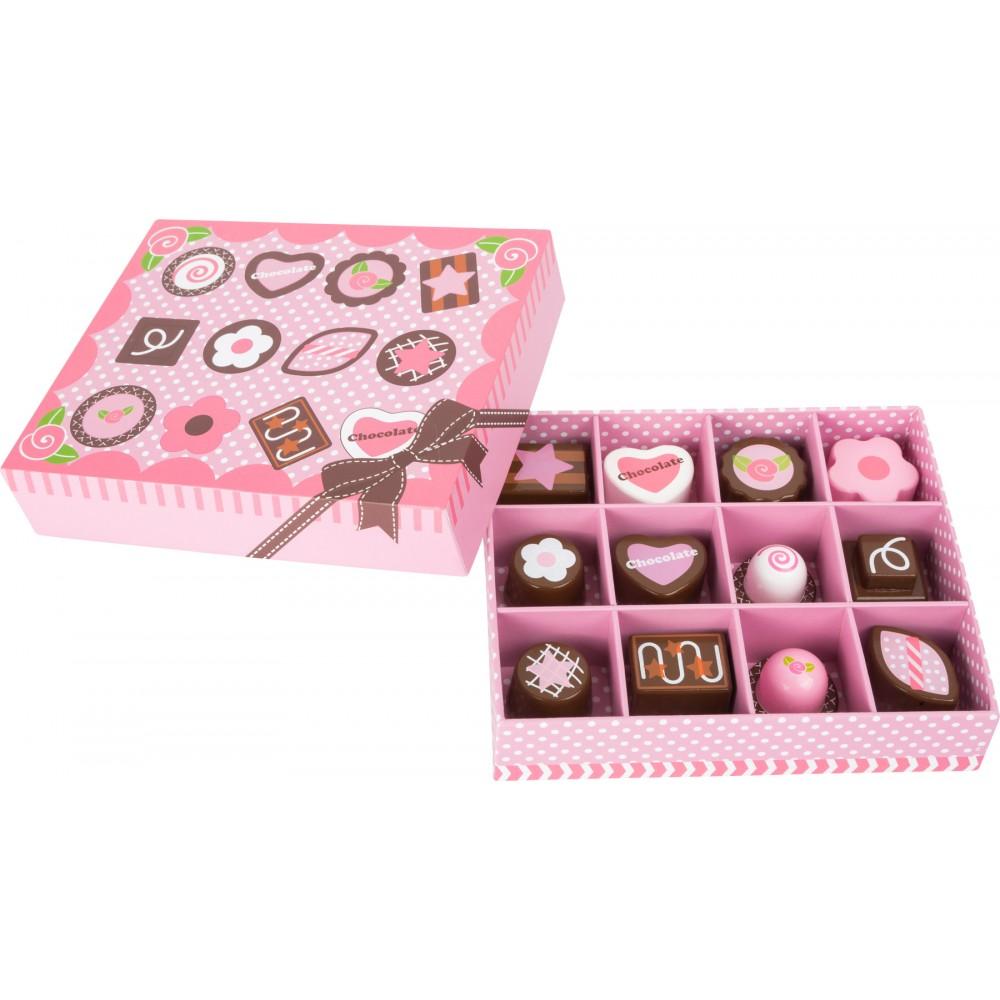 Кутия с Дървени Бонбони