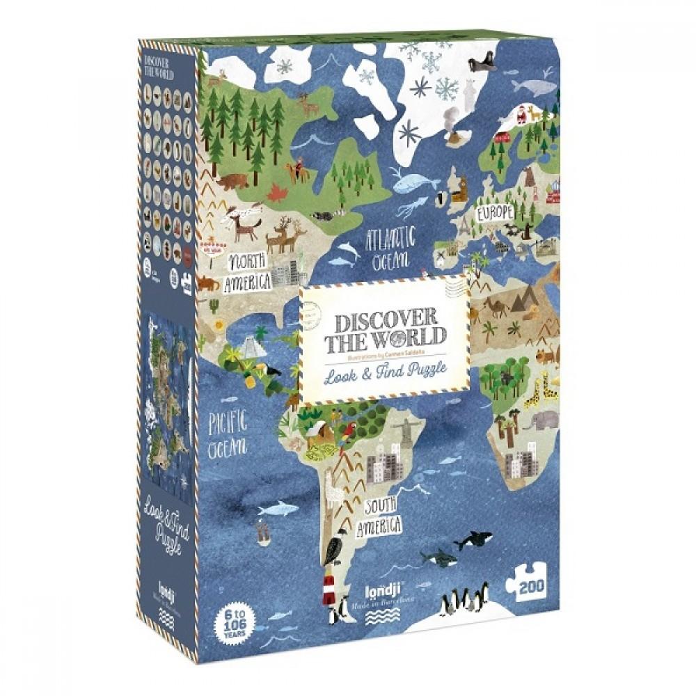 Голям Пъзел Игра -  DISCOVER THE WORLD