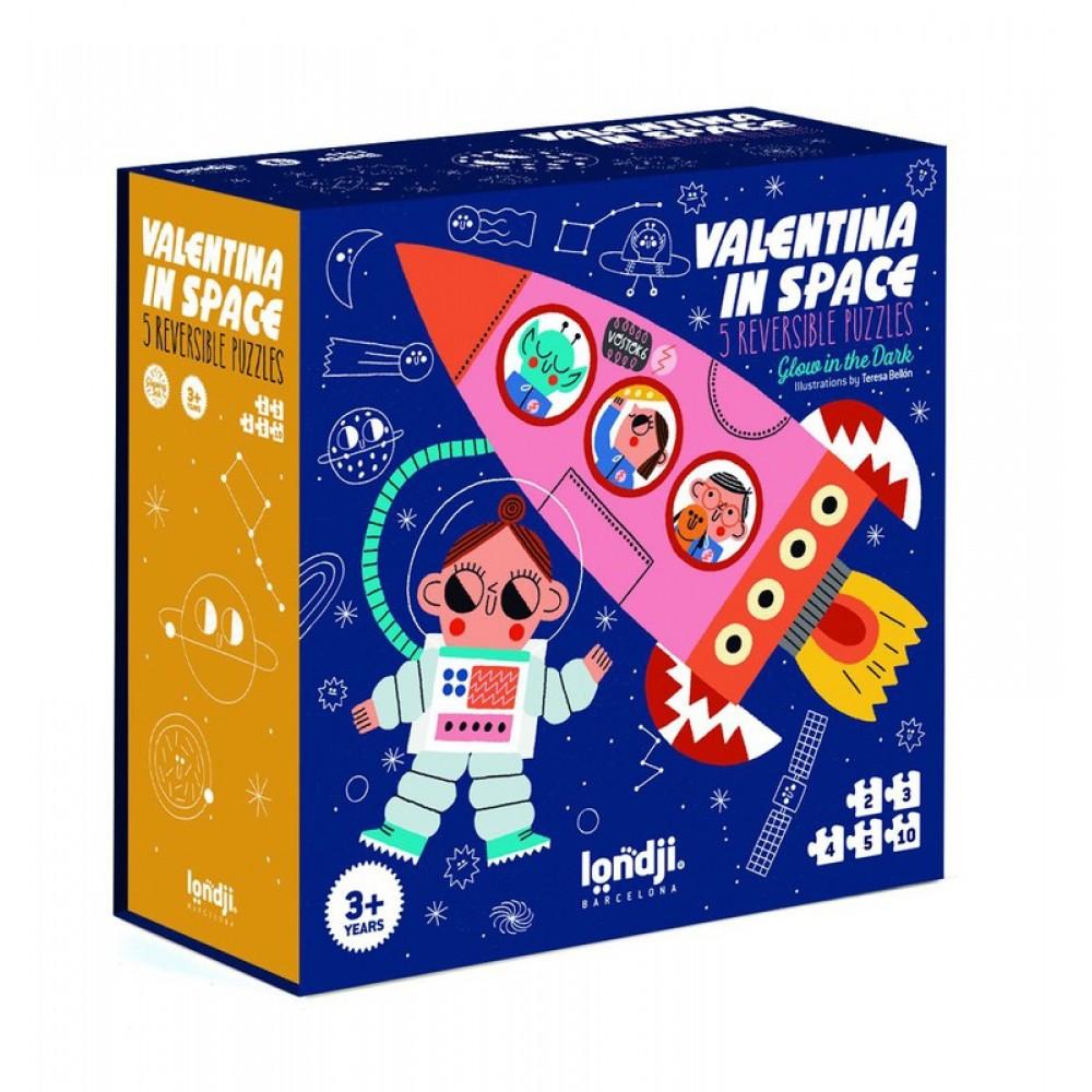 5 Двустранни Светещи Пъзела Valentina in Space