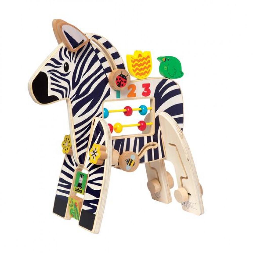 Дървена Активна Играчка Safari Zebra