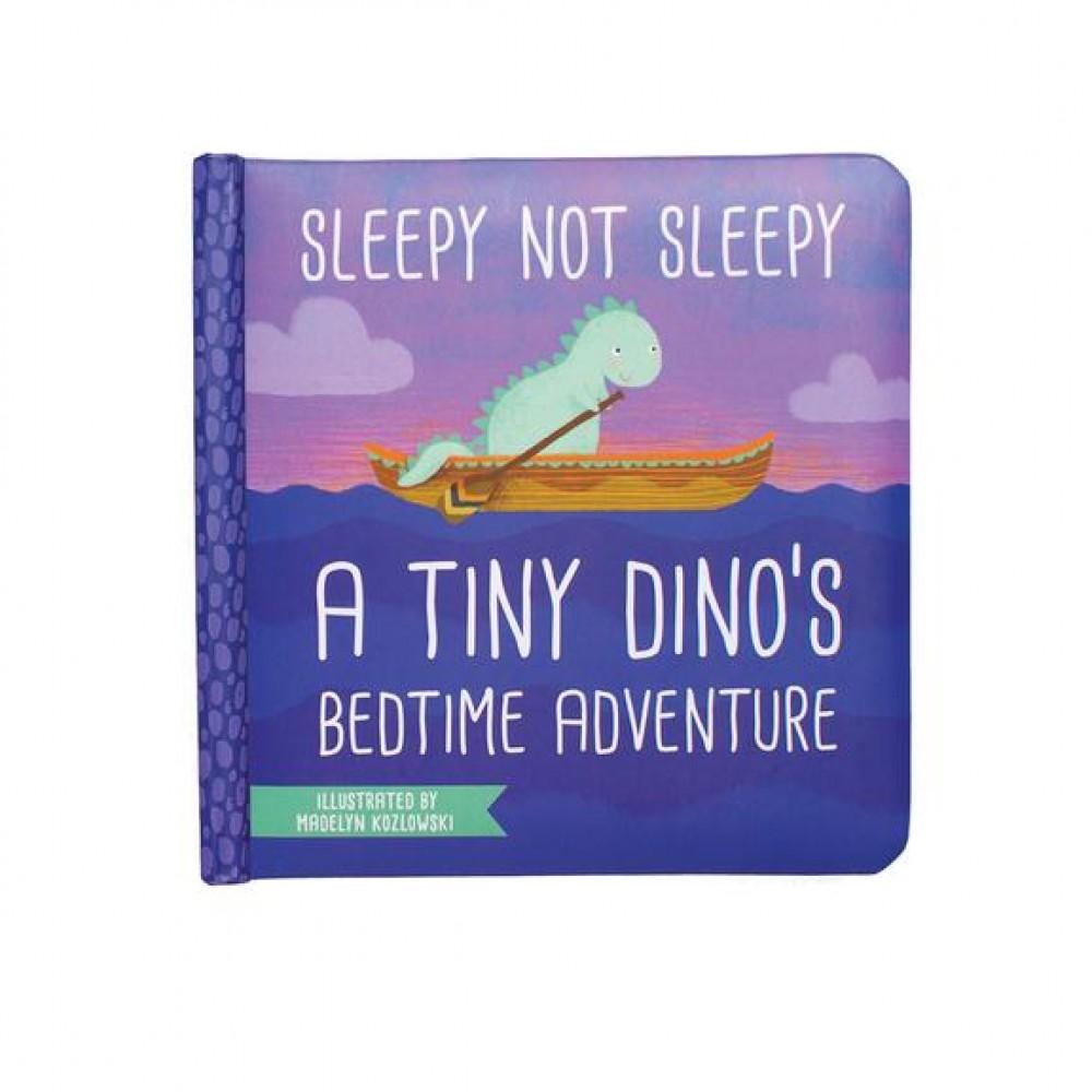 Sleepy Not Sleepy - Малка Картонена Книга за Приключенията на Малък Динозавър