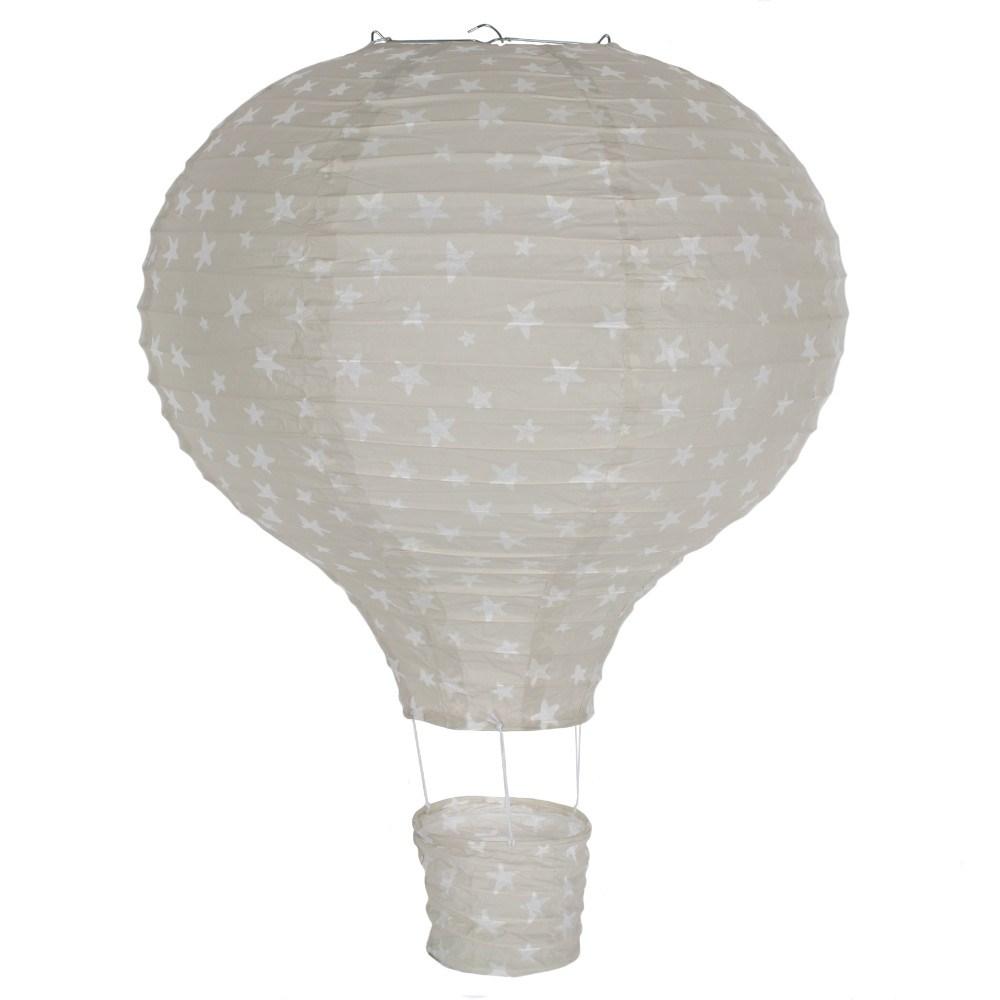 Хартиен Лампион Летящ Балон Сив