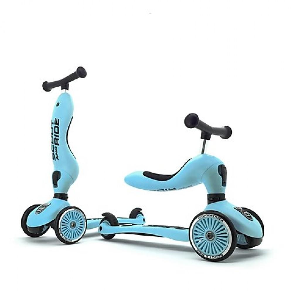Детска тротинетка Scoot & Ride, 2 в 1: скутер и тротинетка Blueberry