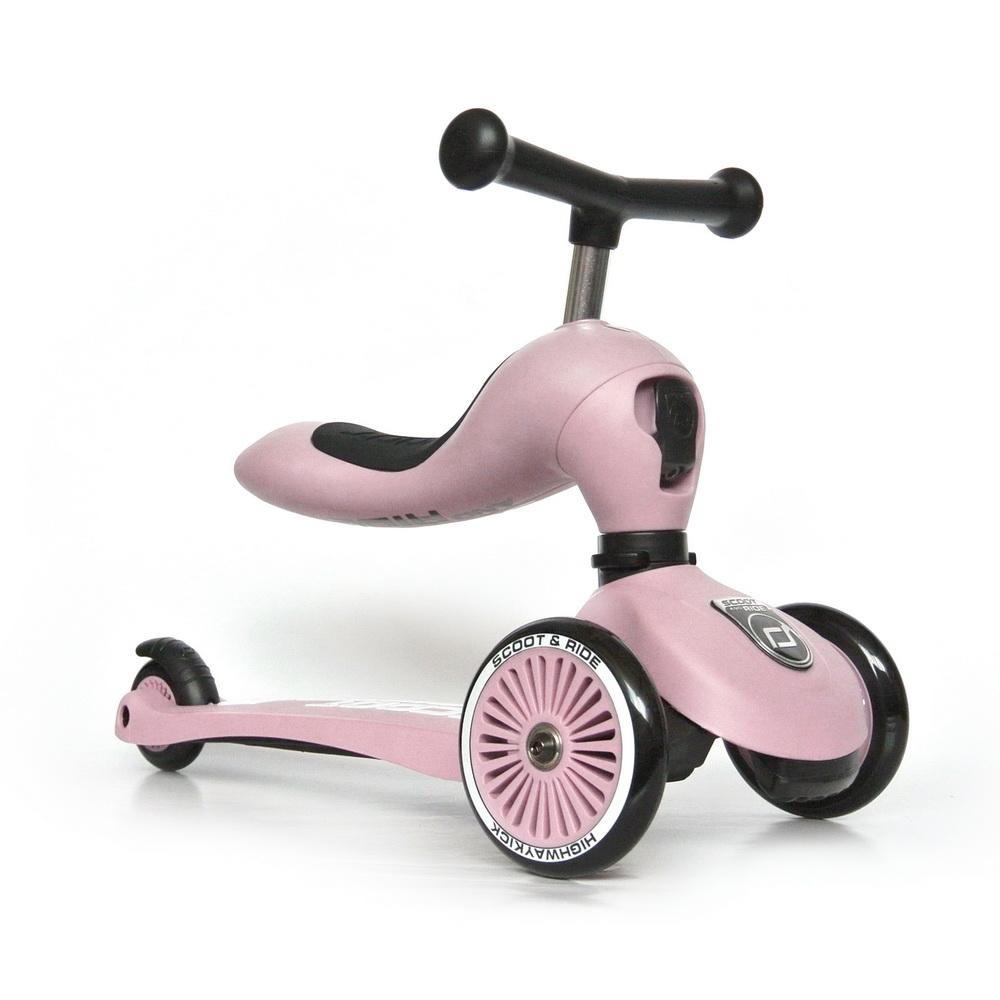 Детска тротинетка Scoot & Ride, 2 в 1: скутер и тротинетка, розова