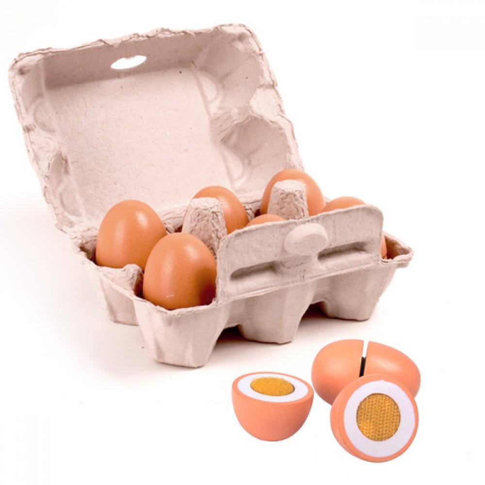 6 Дървени Яйца