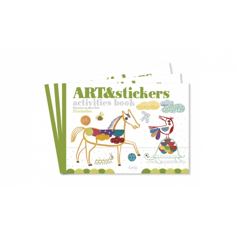 Детска Книжка със Стикери ART and STICKERS