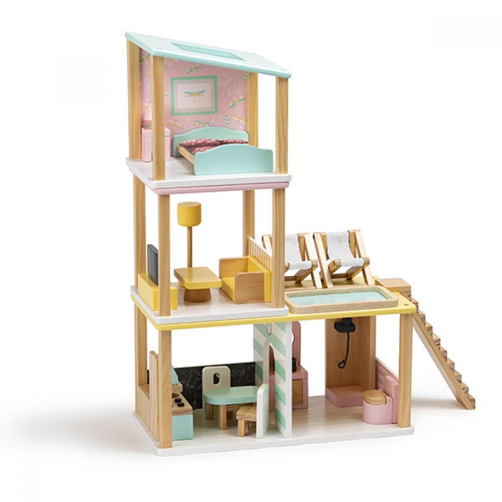 Дървена Модулна Къща за Кукли